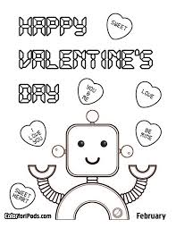 Small Picture Image Gallery Happy Valentines Day Coloring Page at Children Books