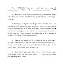 prenup samples prenuptial template online prenuptial agreement template sample free