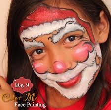 25 days of face painting a jolly santa color me face painting