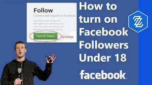 Turn On Followers On Facebook