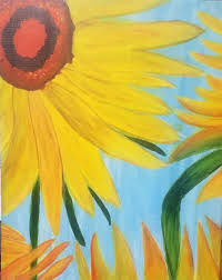 van gogh s sunflowers painting and vino night presented by painting and vino age specific sacramento365