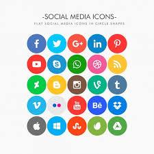 round social media icon. Brilliant Round Round Social Media Icons Pack Free Vector And Social Media Icon C