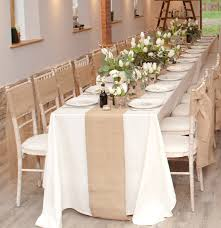 hessian burlap table runner 2m by the wedding of my dreams salon decorations