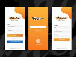 Login Screen Design Android Login Or Register App Screen Design By Saran On Dribbble