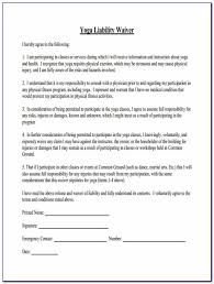 Free Yoga Waiver Form Template Form Resume Examples Kwle8ex29n