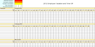 Vacation Schedule Template Planner Excel Annual Plan Updrill Co