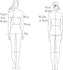 Female Neck Size Chart Size Chart For Sewing Patterns