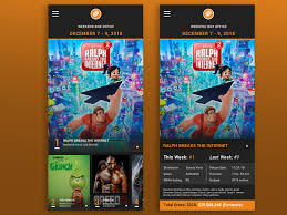 Movie Box Office Chart Concept By Joann Nam On Dribbble