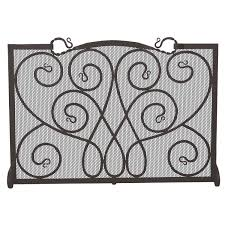 outstanding uttermost wrought iron fireplace screen design with 3 with decorative fireplace screens
