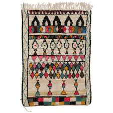 mid century mordern berber moroccan rug with colorful bohemian style for
