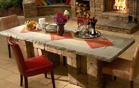 brick and concrete outdoor dining tables diy table top