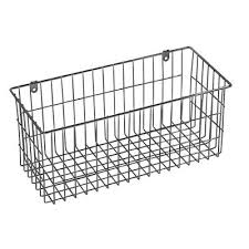 sided wall mount wire basket