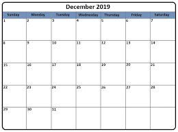 Calendar Doc Printable December 2019 Calendar Word Doc 2019 Calendars