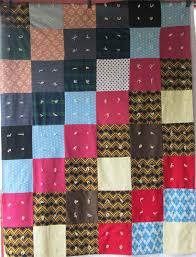 19 best polyester quilts images on Pinterest | Quilting ideas ... & Retro BIG BLOCK Polyester Vintage Quilt Hand tied Adamdwight.com