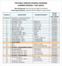 8 Calendar Timeline Templates Free Samples Examples Format Ivf ...