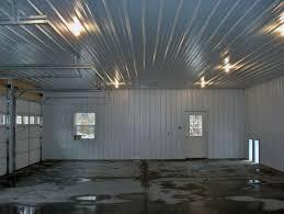 corrugated metal wall garage interior
