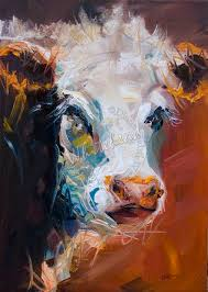 diane whitehead art out west not a painting a day moo cow