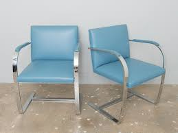 knoll chairs vintage. Contemporary Chairs Pair Of Knoll Leather Brno Chairs For Vintage L