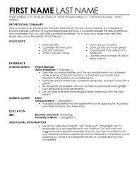 Make My Own Resume
