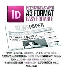 Free Front Page Newspaper Template Editable Newspaper Template Portrait Inside Page Free For Students