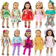 ZITA ELEMENT 24 Pcs Girl <b>Doll Clothes Dress</b> for American <b>18 Inch</b> ...