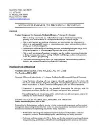 Awesome Collection Of Mechanical Engineering Technician Resume