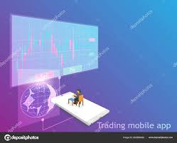 Forex Chart App Trading Mobile App Vector Forex Marketing Online Trade