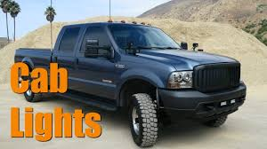 2005 Ford F350 Cab Lights Installing Cab Lights From Harbor Freight On Ford F 350 Diesel Truck Review Led Lights