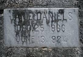Janie Daniels Gravestone, Mt Pleasant Cemetery
