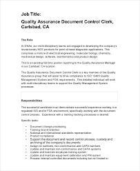 Quality Control Job Description 11 Free Pdf Word Documents