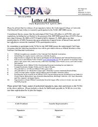 Sample National Letter Of Intent Stunning Sample National Letter Of Intent Ideas Best Resume 7