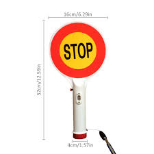Stop Light Lamp Two Way Handheld Rechargeable Led Traffic Sign Stop Light