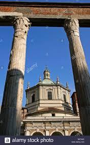 San Lorenzo Columns Basilica Milan Stockfotos San Lorenzo