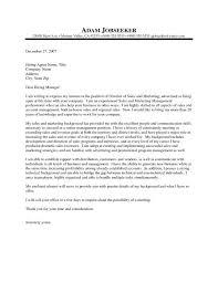 Sample Cover Letter Sales Manager Sales Manager Cover Letter Sample Musiccityspiritsandcocktail Com