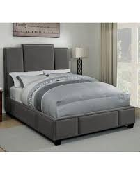 Coaster Lawndale Collection 300795KW California King Size Bed with Fabric Upholstery Three-Panel Headboard Nailhead Trim and Sturdy Wood Frame ...
