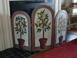 decorative fireplace screens painted