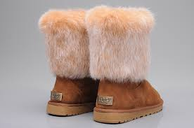 ... UGG 5825 Fox Fur Short Shoes For Women in Brown ...