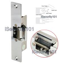 electric strike lock dc 12v fail safe nc mode for glass door access control