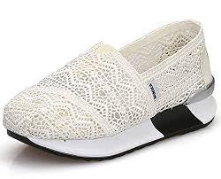 Dadawen Womens Mesh Platform Walking Shoes Lightweight Slip
