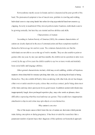 chicago style term paper autism autism