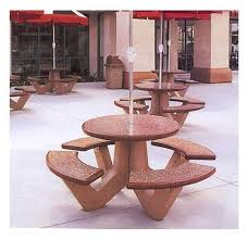 66 round commercial concrete picnic table 1100 lbs