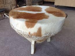 large authentic tribal african cow skin bongo drum three legged