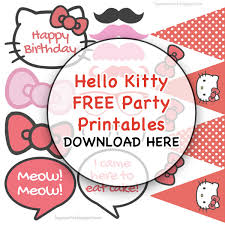 Printable Hello Kitty Invitations Personalized Free Printable Thank You Cards Hello Kitty Download Them