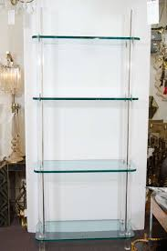 Glass Bookshelf Midcentury Solid Lucite And Glass Bookshelf Or Bookcase At 1stdibs