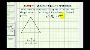 Ex Find The Perimeter Of An Equilateral Triangle Given The Area