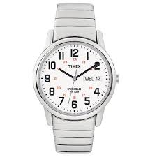 timex men s easy reader watch silver tone stainless steel timex men s easy reader watch silver tone stainless steel expansion band