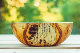 large wooden salad bowl artcraft 9x24x24 cm 2017 by roman panev environmental