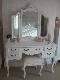 vanity with tri fold mirror and bench multiple colors designs