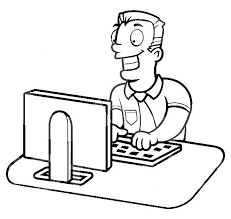 Computer Coloring Pages At Getdrawingscom Free For Personal Use