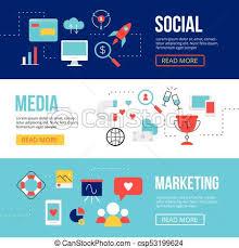 Social Media Design Templates Social Media Marketing Web Banners Design Templates Smm Icons